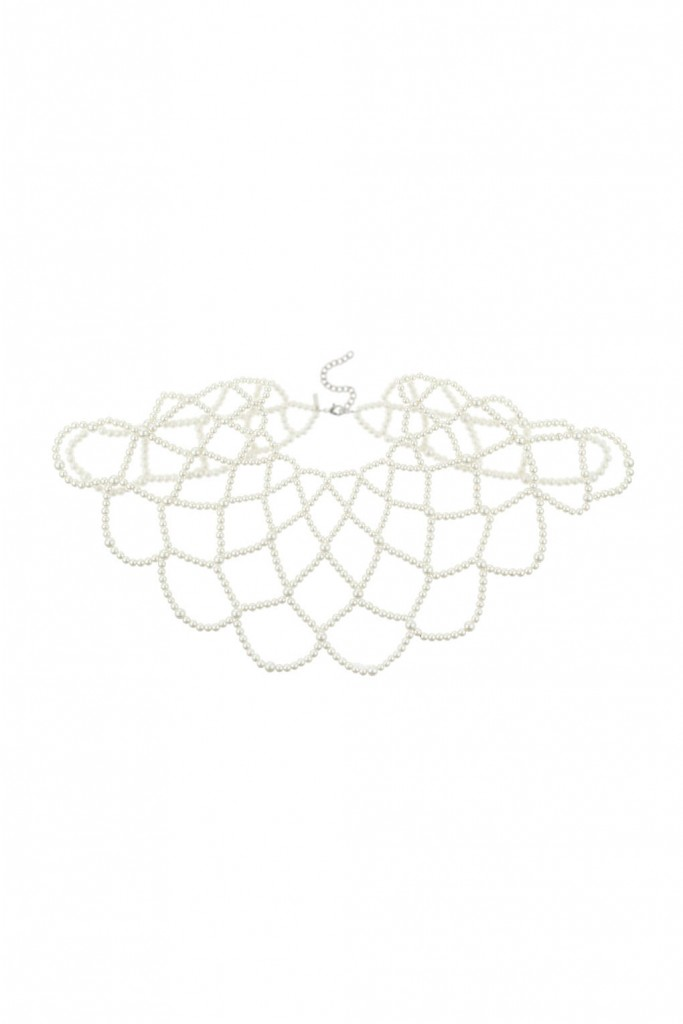 Caged Pearl Shoulder Drape Necklace     Price: £28.00 Click to visit Topshop