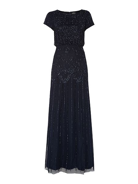 Adrianna Papell All over beaded cap sleeve dress £133 Click to visit House of Fraser