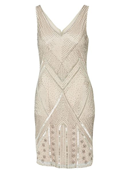 Adrianna Papell Sleeveless beaded flapper style dress £161 Click to visit House of Fraser