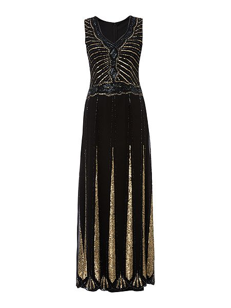 Lace and Beads Sleeveless Embellished Flapper Maxi Dress £95 Click to visit House of Fraser