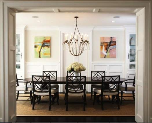 Simple-dining-room-chandelier