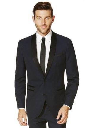 F&F Navy Peak Lapel Slim Fit Tuxedo Jacket £40.00 Click to visit F&F