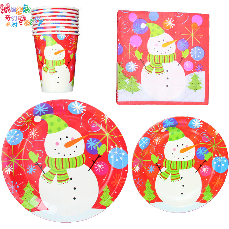 -font-b-Christmas-b-font-party-supplies-red-font-b-paper-b-font-tableware-snowman