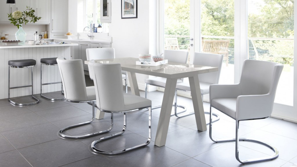Zen 6 Seater Grey Gloss Dining Table £269 Click to visit Danetti