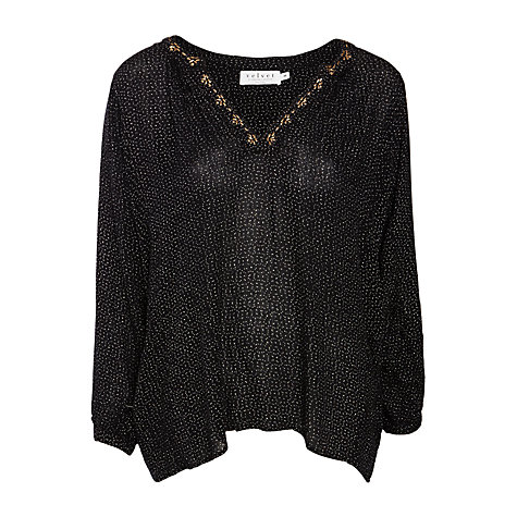 Velvet Aleta Indian Microdot Blouse, Black £145 Click to visit John Lewis