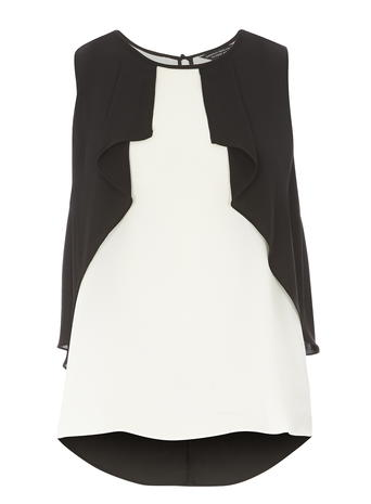 Black and white Sleeveless Top     Price: £22.00 Click to visit Dorothy Perkins