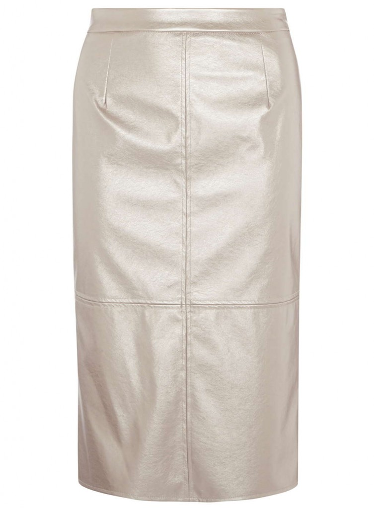 **Luxe Pink PU Shimmer Skirt     Was £32.00     Now £15.00 Click to visit Dorothy Perkins