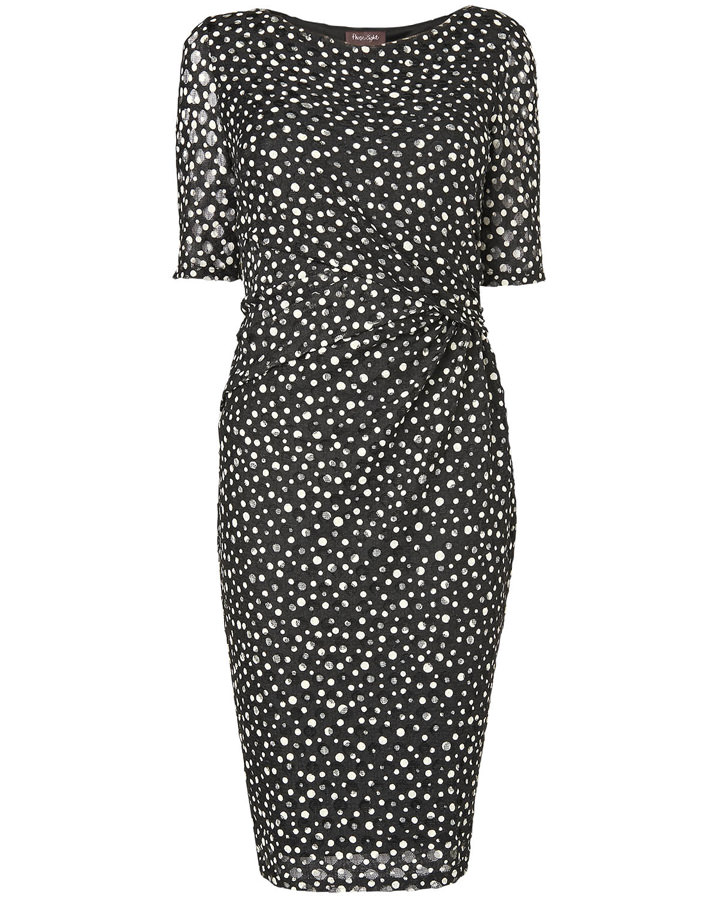 Textured Spot Dress Sale £29.50 Click to visit Phase Eight