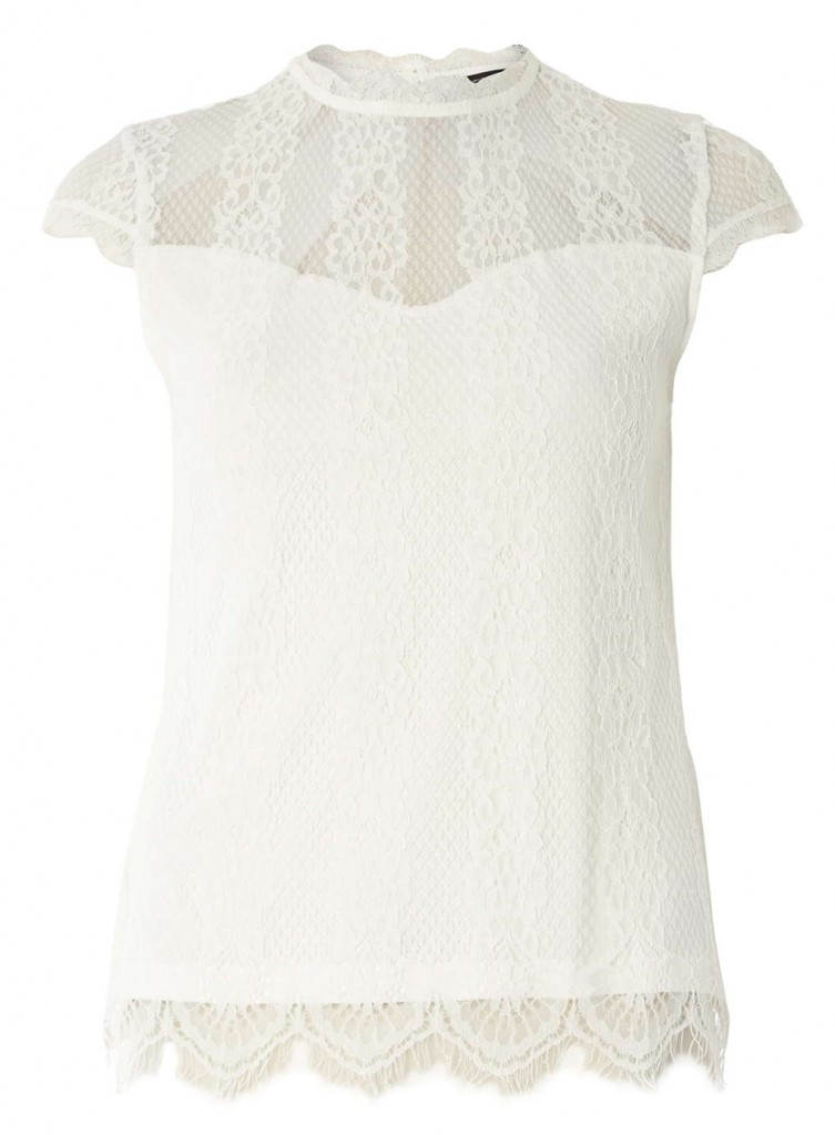 Ivory Lace Victoriana Top     Was £16.00     Now £10.00 Click to visit Dorothy Perkins