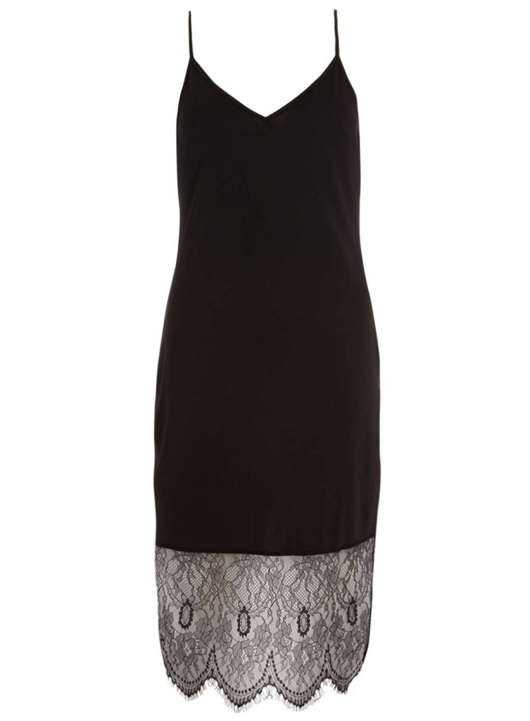 **Alice and You Black Eyelash Lace Slip Dress     Was £25.00     Now £18.75 Click to visit Dorothy Perkins