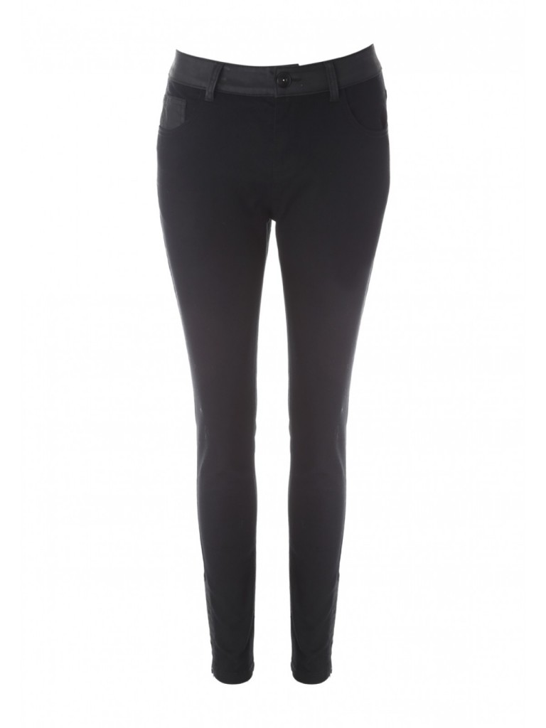 Womens Black Coated Panel Jeans now  £14.00 click to visit Peacocks