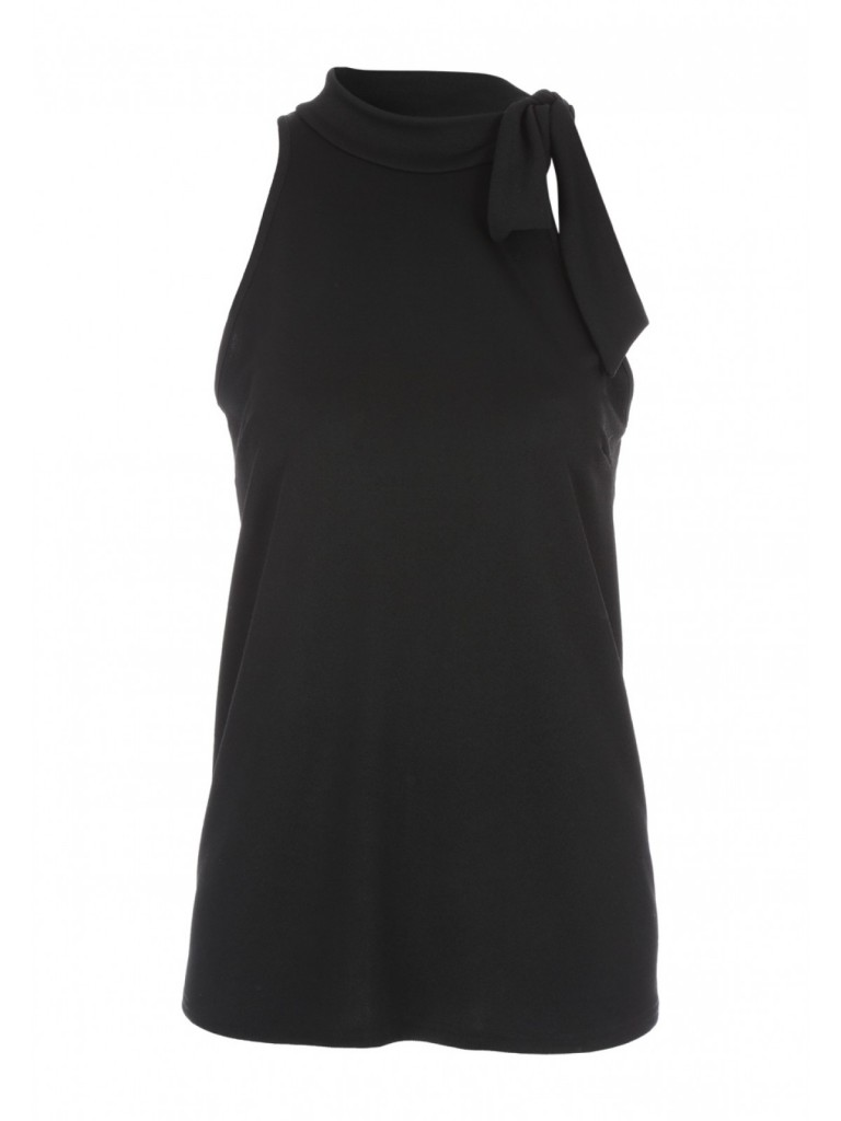 Womens Black Halter Top £12.00 now £8.00 Click to visit Peacocks