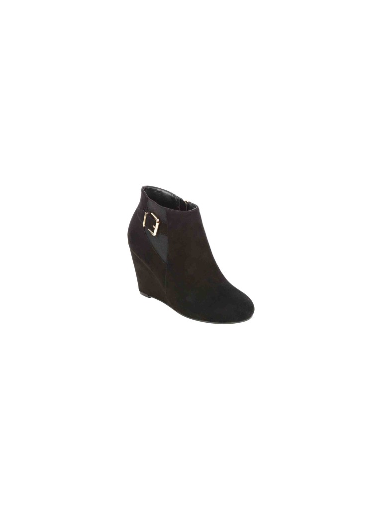 Womens Buckle Wedge Ankle Boots £24.00 Click to visit Peacocks