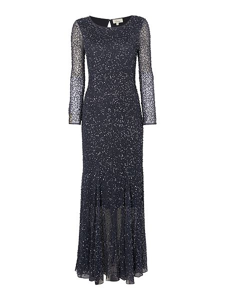 Linea Embroidered long sleeve maxi dress £249 Click to visit House of Fraser
