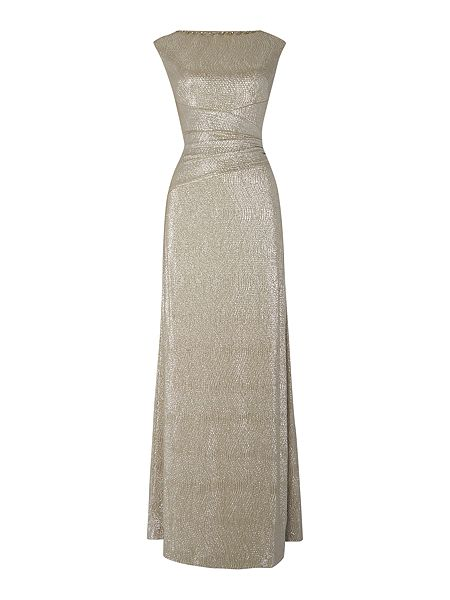 Lauren Ralph Lauren Latima cowl neck metallic gown £210 Click to visit House of Fraser