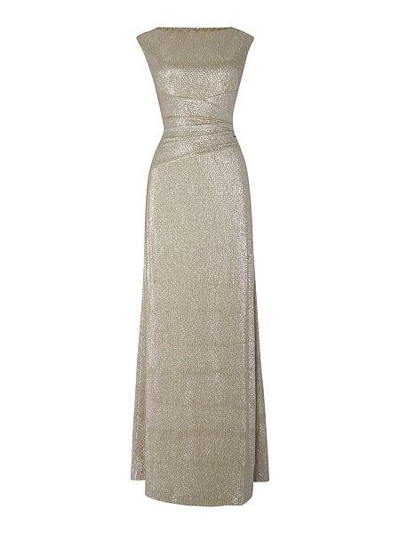 Lauren Ralph Lauren Latima cowl neck metallic gown £210 Click to visit House of Fraser