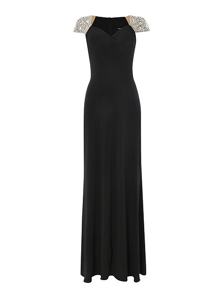 JS Collections Jewel cap sleeve rouched evening dress £160 Click to visit House of Fraser