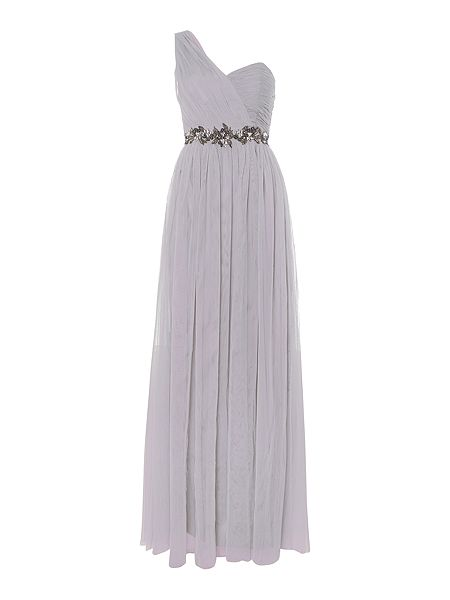 Little Mistress One Shoulder Embellished Waist Maxi Dress £78 Click to visit House of Fraser