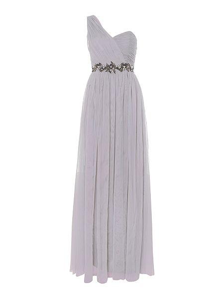 Little Mistress One Shoulder Embellished Waist Maxi Dress £78 Click to visit House of Fraser