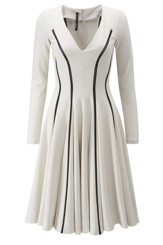 Plein Sud Contrast Seam Dress in Ivory now  £238.00 Click to visit Paulie