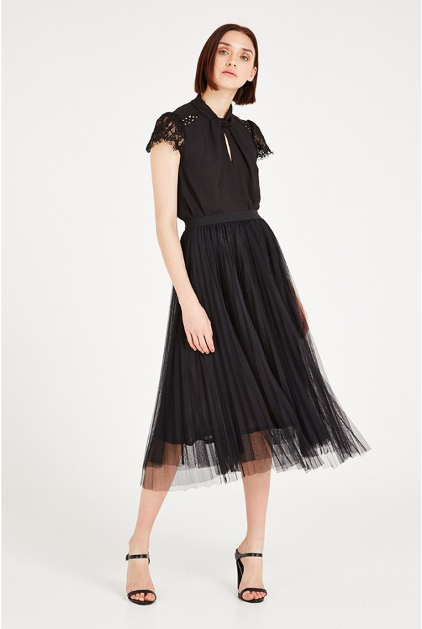 Louche Luxe Bettula Netted Midi Skirt £49 Click to visit Joy