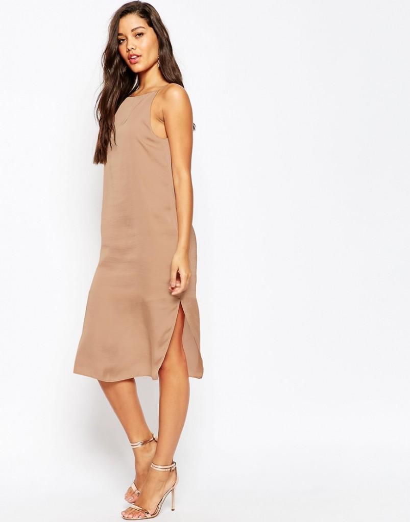 ASOS Midi Cami Slip Dress in Hammered Satin £25.00 Click to visit ASOS