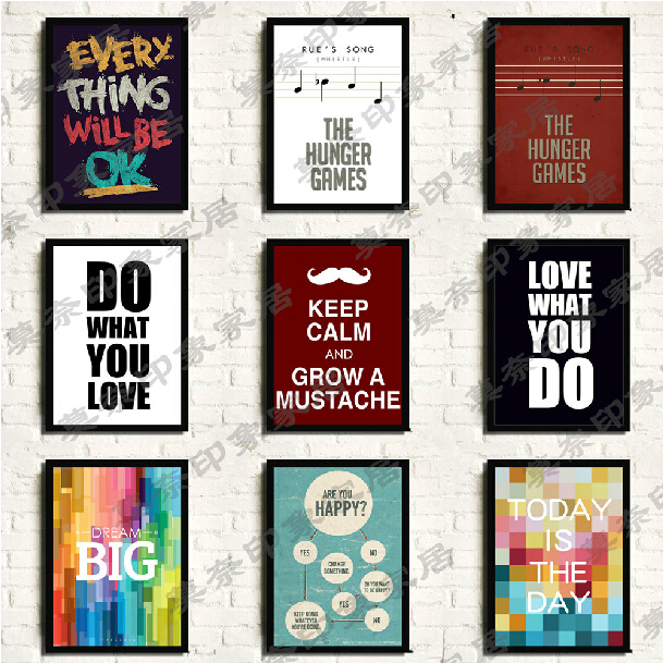 Posters and prints for low cost wall decorating ideas for Poster decoration ideas