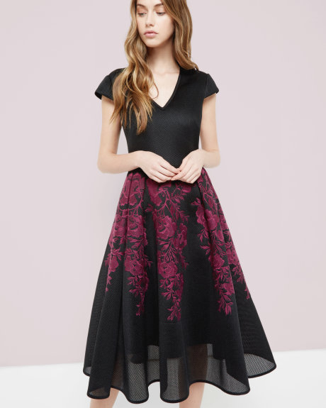 LEVANA Embroidered mesh full skirt dress     £299 Click to visit Ted Baker