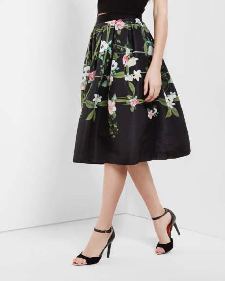 EMMALIN Secret Trellis midi skirt     £149 Click to visit Ted Baker