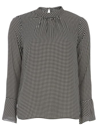 Black Spot Bell Sleeve Top Was £25.00 Now £15.00 Click to visit Dorothy Perkins
