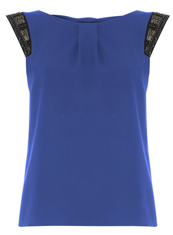 **Billie & Blossom Cobalt Embellished Blouse Was £26.00 Now £15.00 Click to visit Dorothy Perkins