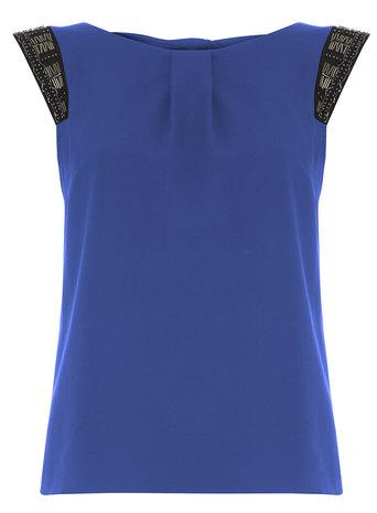 **Billie & Blossom Cobalt Embellished Blouse Was £26.00 Now £15.00 Click to visit Dorothy Perkins