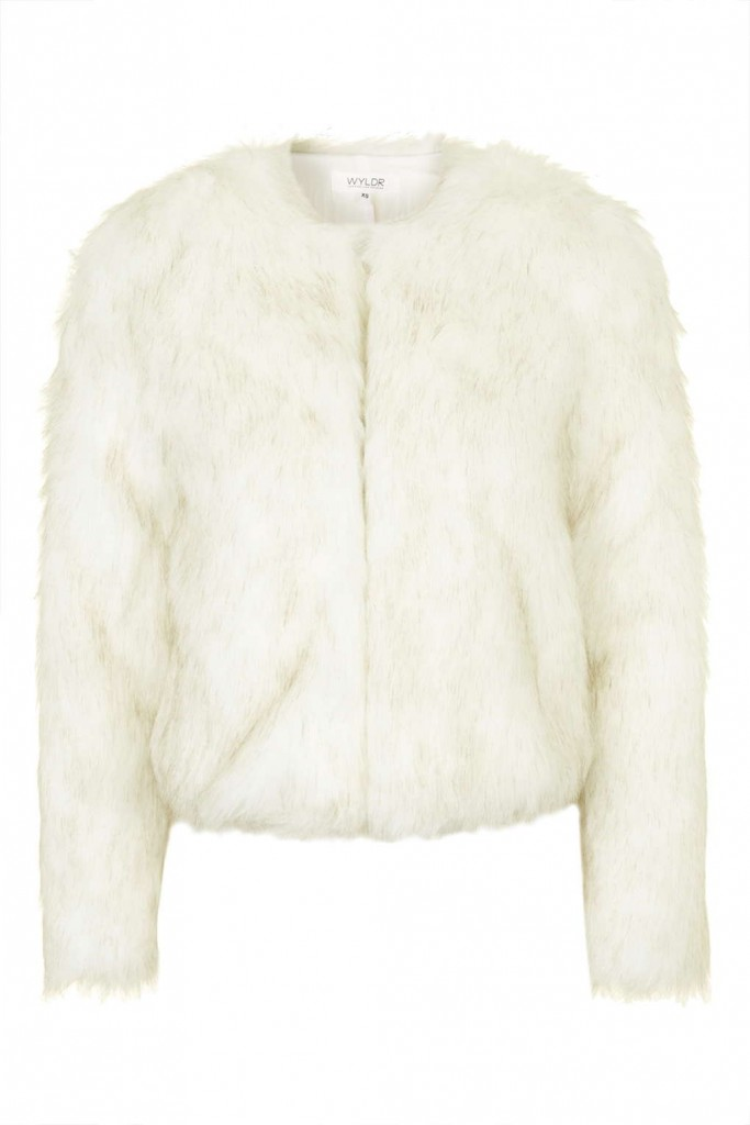 **Push Your Luck - Beige Faux Fur Jacket by WYLDR Price: £52.00 Click to visit Topshop