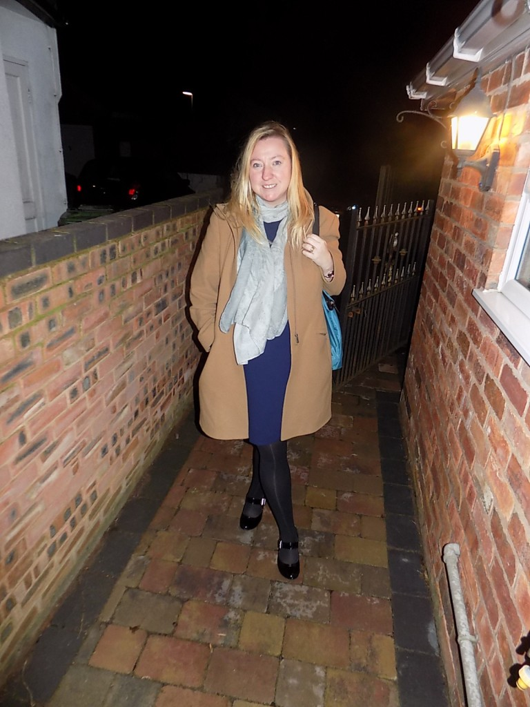 Add a coat and the scarf is now Winter Ready