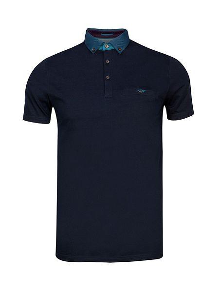 Ted Baker Joejoe Grosgrain spot collar polo shirt £30 Click to visit House of Fraser
