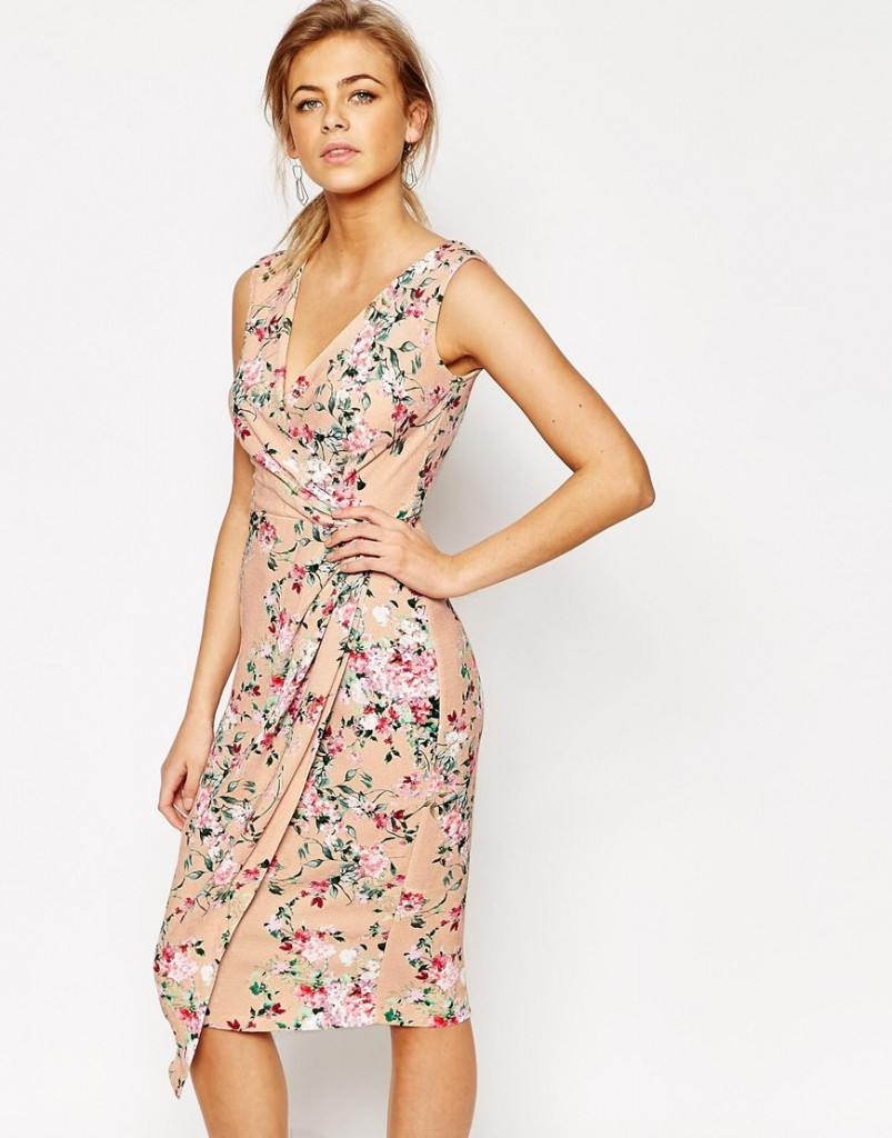 Closet Midi Dress in Floral Print with Wrap Front £55.00 Click to visit ASOS