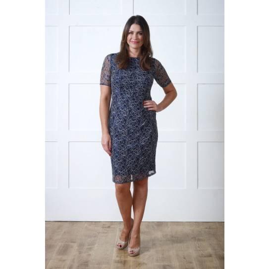 Navy Lace Side Gather Dress PRODUCT CODE: 08021149 £40.00 Click to visit Lavitta