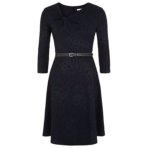 Kaliko Jacquard Skater Dress, Navy now £23 click to visit John Lewis