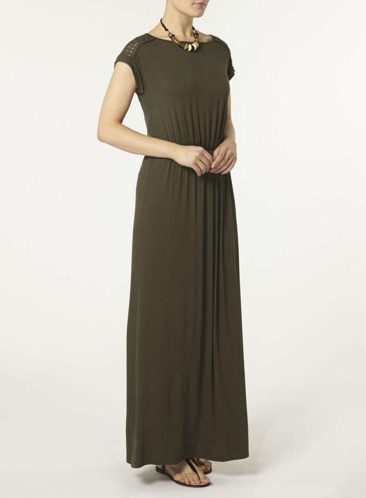 khaki lace maxi dress Price: £18.00 Click to visit Dorothy Perkins