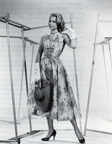 Floral prints are just stunning on Grace Kelly