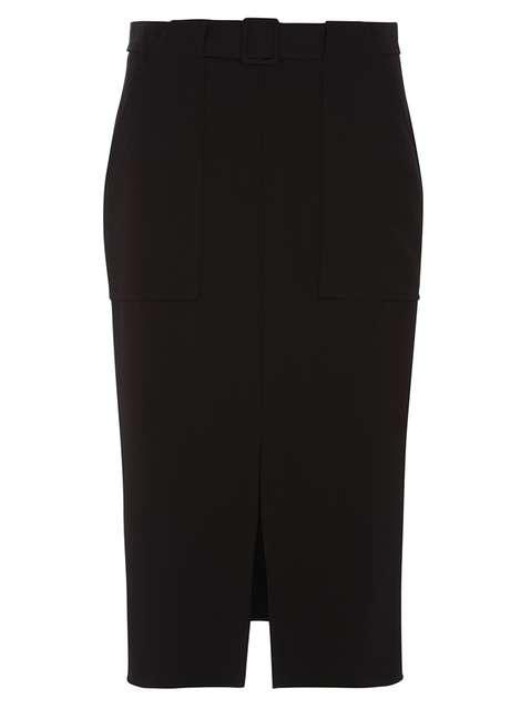Black Pocket Column Skirt Price: £28.00 Click to visit Dorothy Perkins