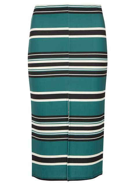 Black and Green Stripe Pencil Skirt Price: £22.00 Click to visit Dorothy Perkins