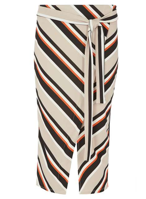 Stripe Wrap Belted Pencil Skirt Price: £22.00 Click to visit Dorothy Perkins