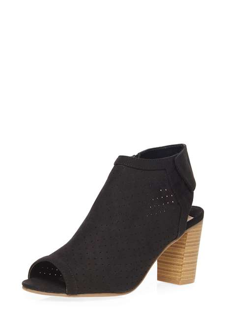 Black 'Larissa' laser cut boot Price: £35.00 Click to visit Dorothy Perkins