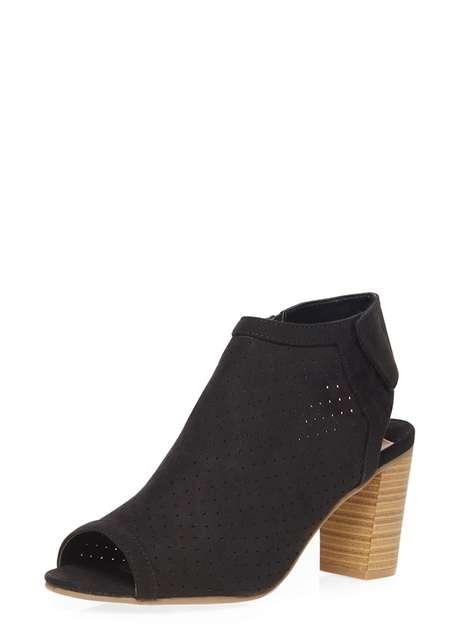 Black 'Larissa' laser cut boot Price: £35.00 Click to visit Dorothy Perkins