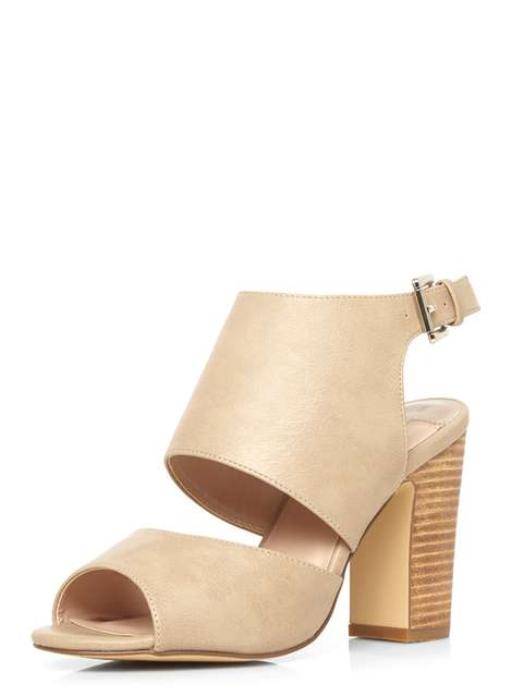 Stone 'Sardinia' heel sandals Price: £29.00 Click to visit Dorothy Perkins