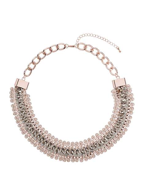 Wrap Facet Necklace Was £16.50 Now £12.37Click to visit Dorothy Perkins