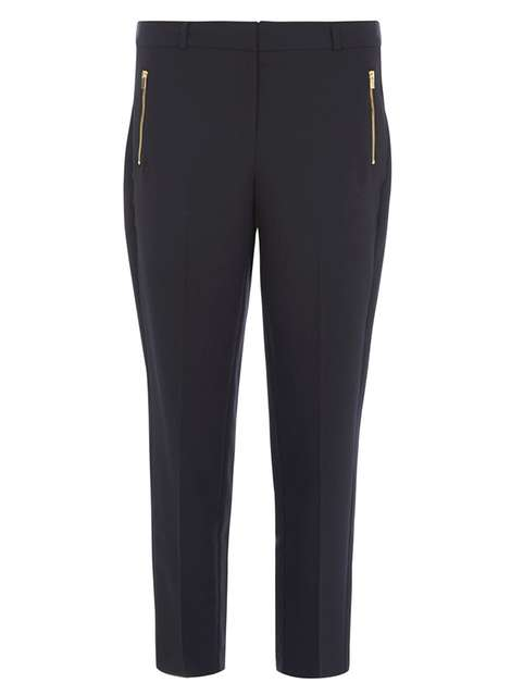 Navy Crepe Trousers Price: £20.00 Click to visit Dorothy Perkins