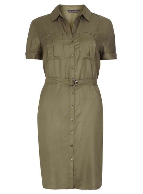 **Tall Khaki Tie Waist Utility Dress Price: £24.00 Click to visit Dorothy Perkins