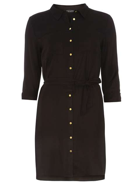 Black Button Front Shirt Dress Price: £24.00 Click to visit Dorothy Perkins